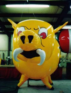 giant balloon - custom helium war pig balloon