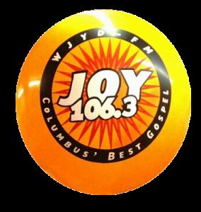 helium advertising balloon with Joy logo
