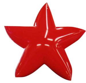 10 ft. red color star shape helium advertising balloon